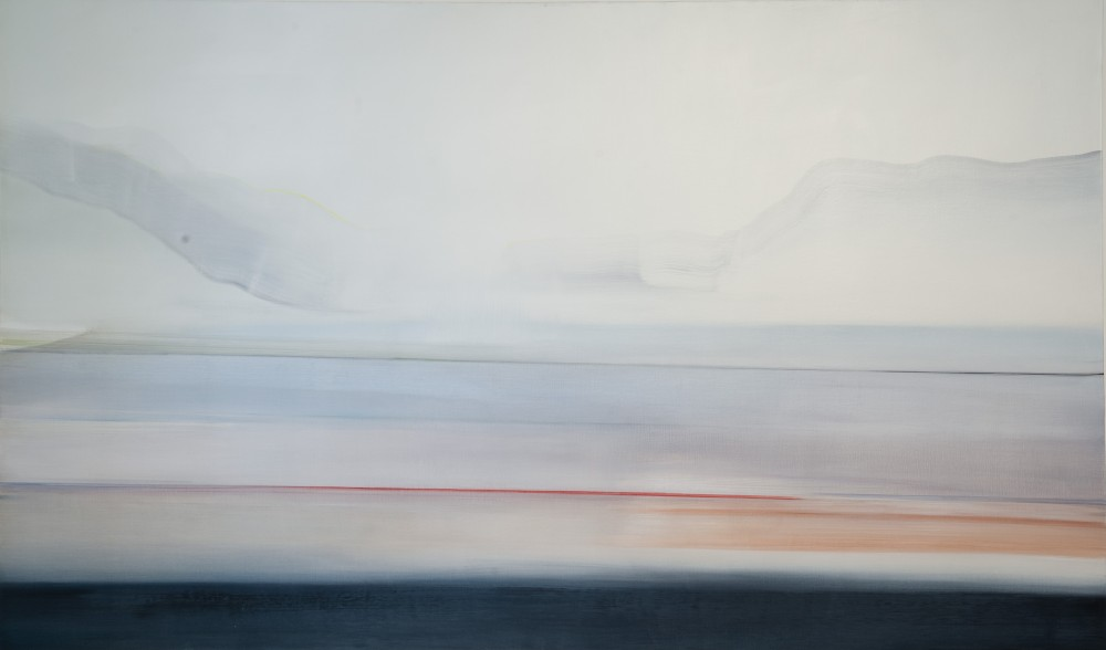 Riikka Ahlfors art painting taide maalaus Baikal, 185 cm x 110 cm, oil on canvas, 2012