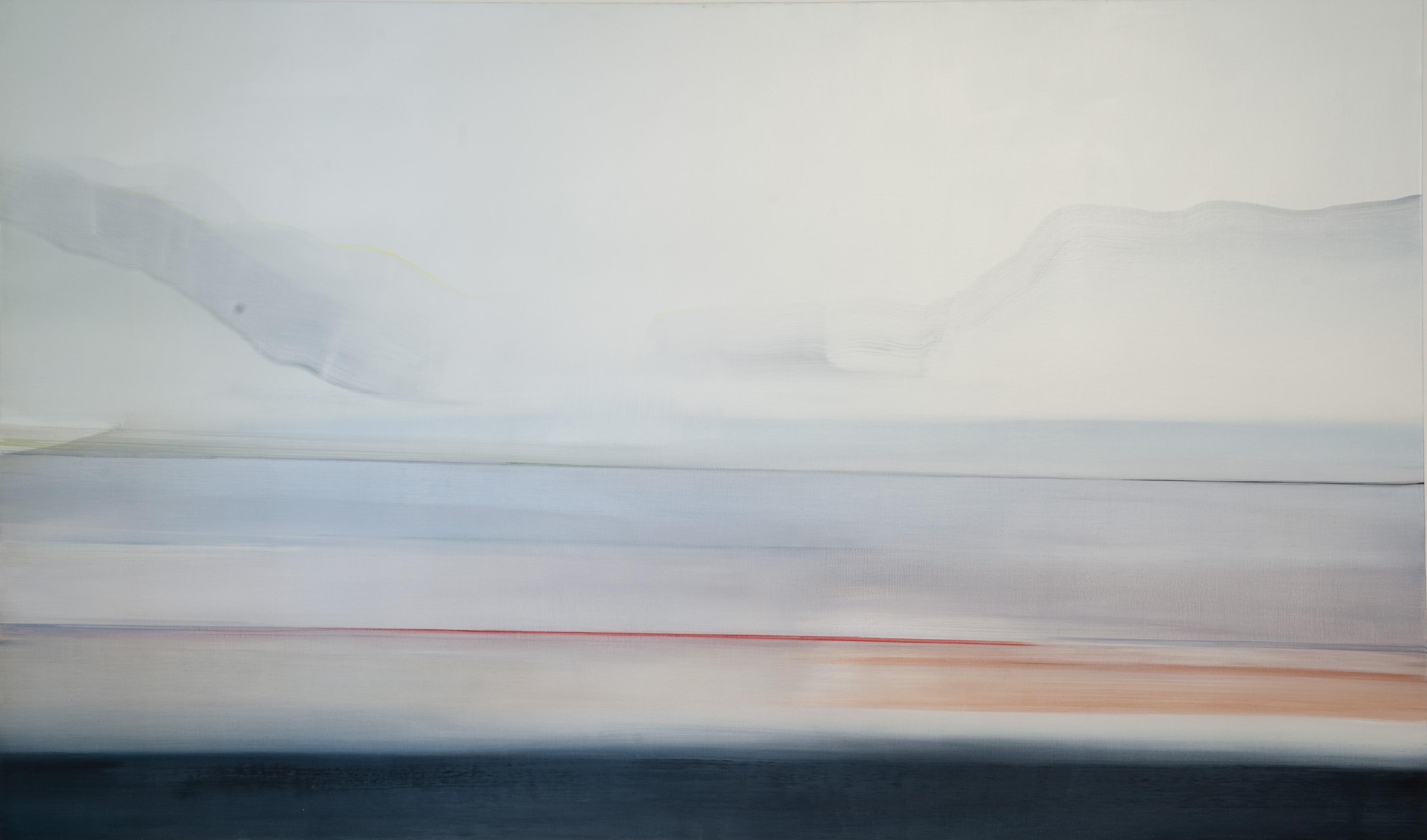 Riikka Ahlfors art painting taide maalaus Baikal, 185 cm x 110 cm, oil on canvas, 2012