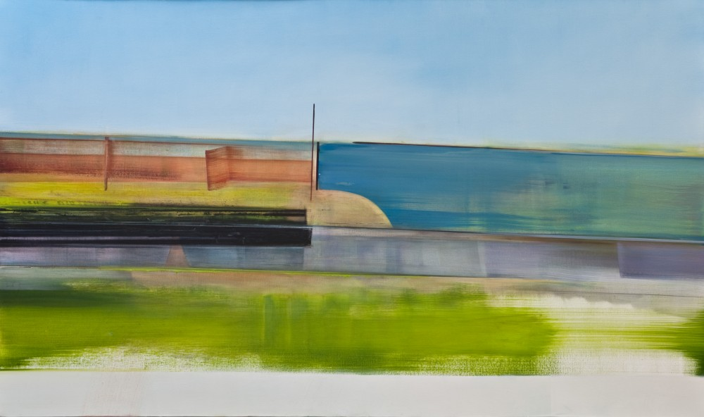 Riikka Ahlfors art painting taide maalaus Buildings, 120 cm x 50 cm, oil on wood, 2012