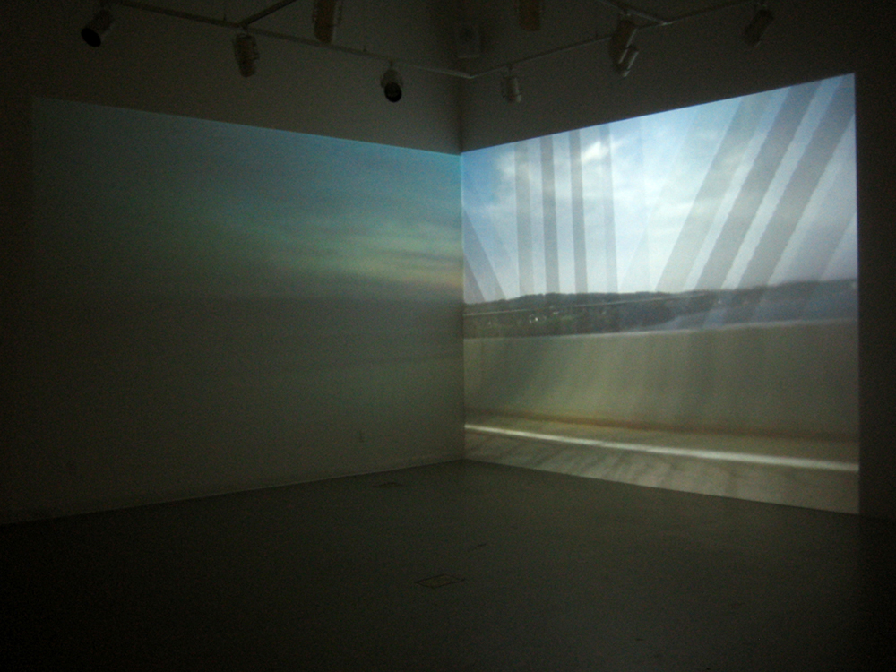 Riikka Ahlfors art painting taide maalaus Disenthralled Dissonance, 2-projection video installation, Toronto, Canada, 2007