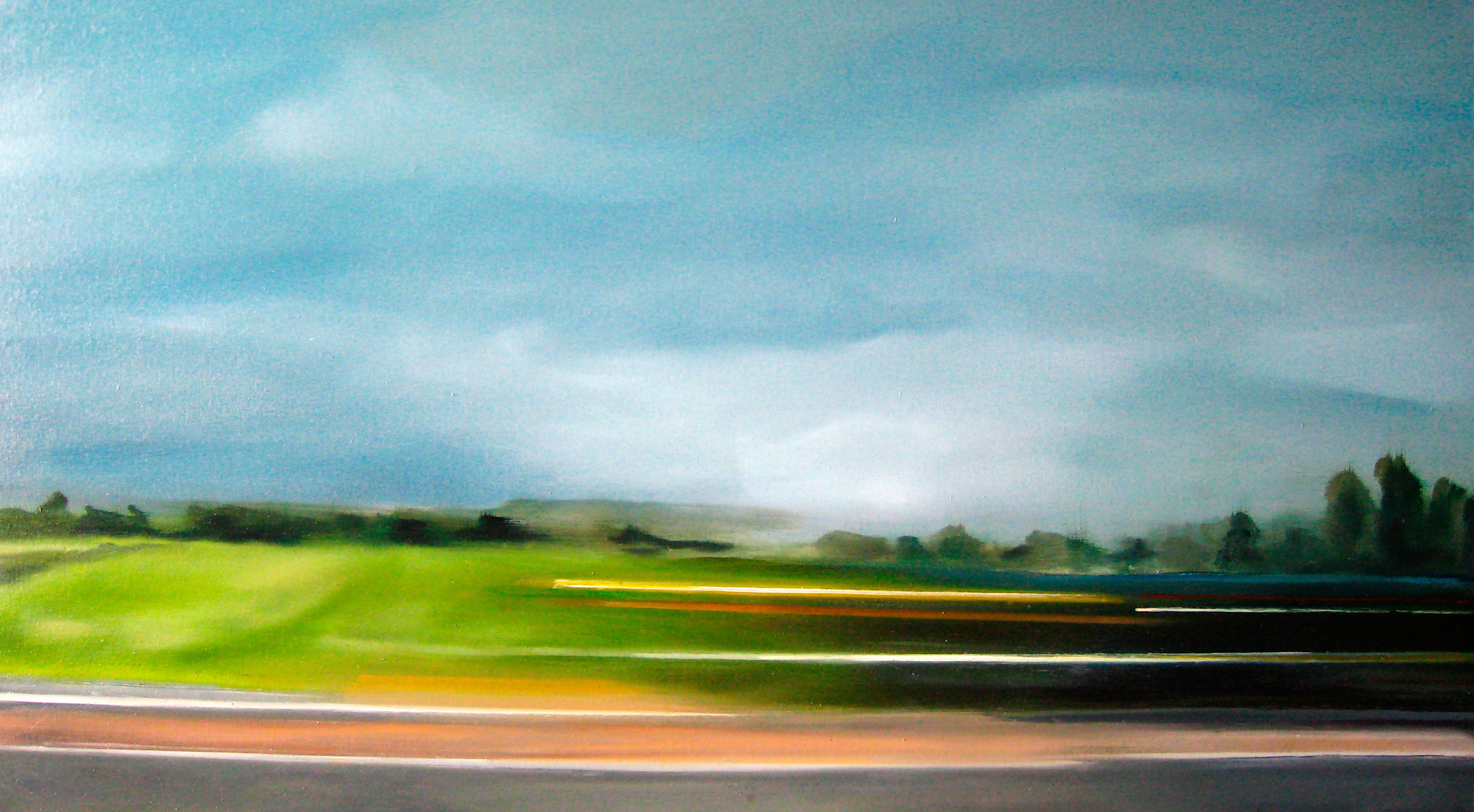 Riikka Ahlfors art painting taide maalaus Blitz, 97 cm x 54 cm, oil on canvas, 2007