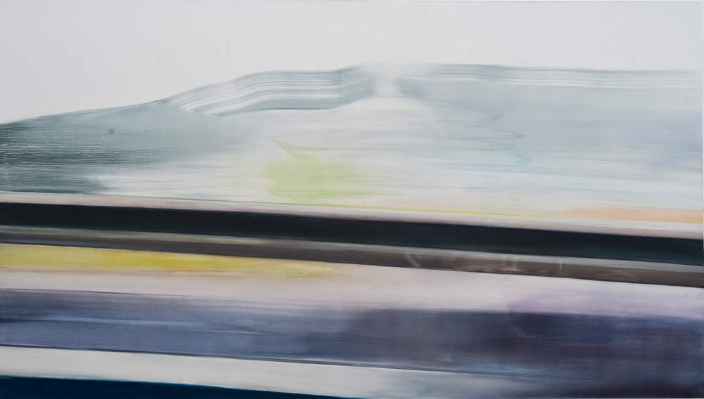 Riikka Ahlfors art painting taide maalaus Runoff Time Hurts the Eye, 238 cm x 138 cm, oil on canvas, 2012