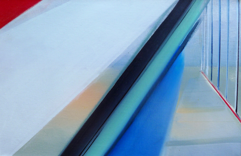Riikka Ahlfors art painting taide maalaus untitled2, 69 cm x 44,5 cm, oil on canvas, 2012