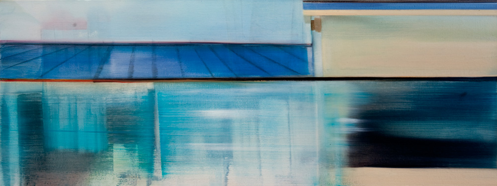 Riikka Ahlfors art painting taide maalaus view3, 40 cm x 65 cm, oil on canvas, 2012