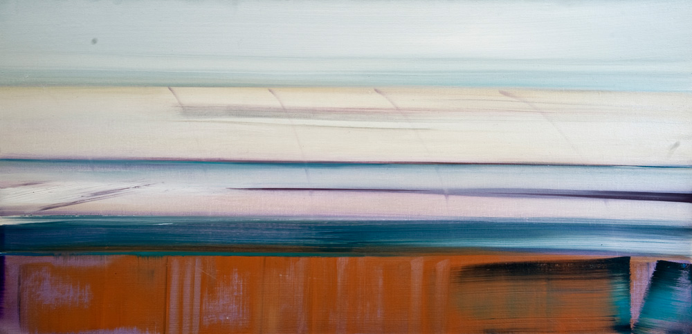 Riikka Ahlfors art painting taide maalaus view2, 45 cm x 75 cm, oil on canvas, 2012