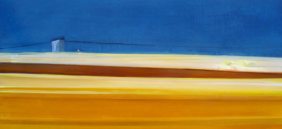 Riikka Ahlfors art painting taide maalaus ZOOM, 74 cm x 35 cm, oil on mdf-board, 2011