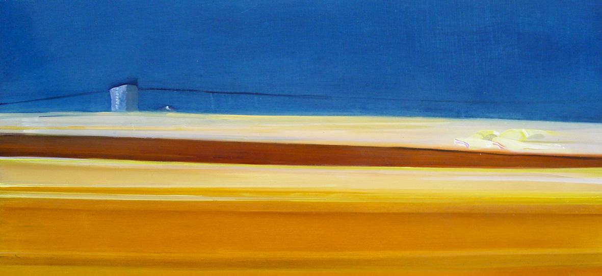 Riikka Ahlfors art painting taide maalaus ZOOM, 74 cm x 35 cm, oil on mdf-board, 2011