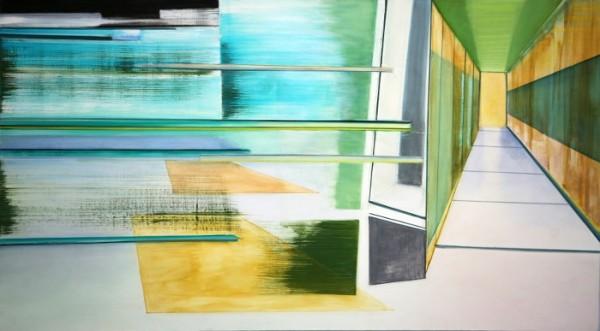 Riikka Ahlfors art painting taide maalaus 2013_Fold_Riikka-Ahlfors_198x110cm (700x387)