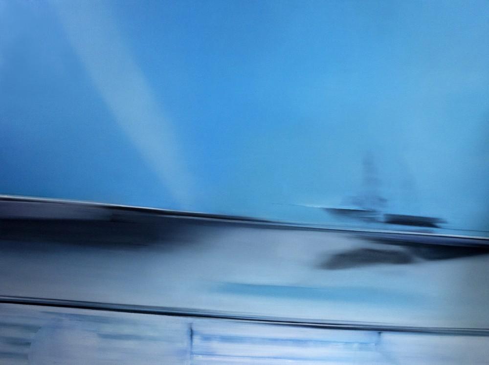 Blue Moment, 119 cm x 159 cm, oil on canvas, 2017