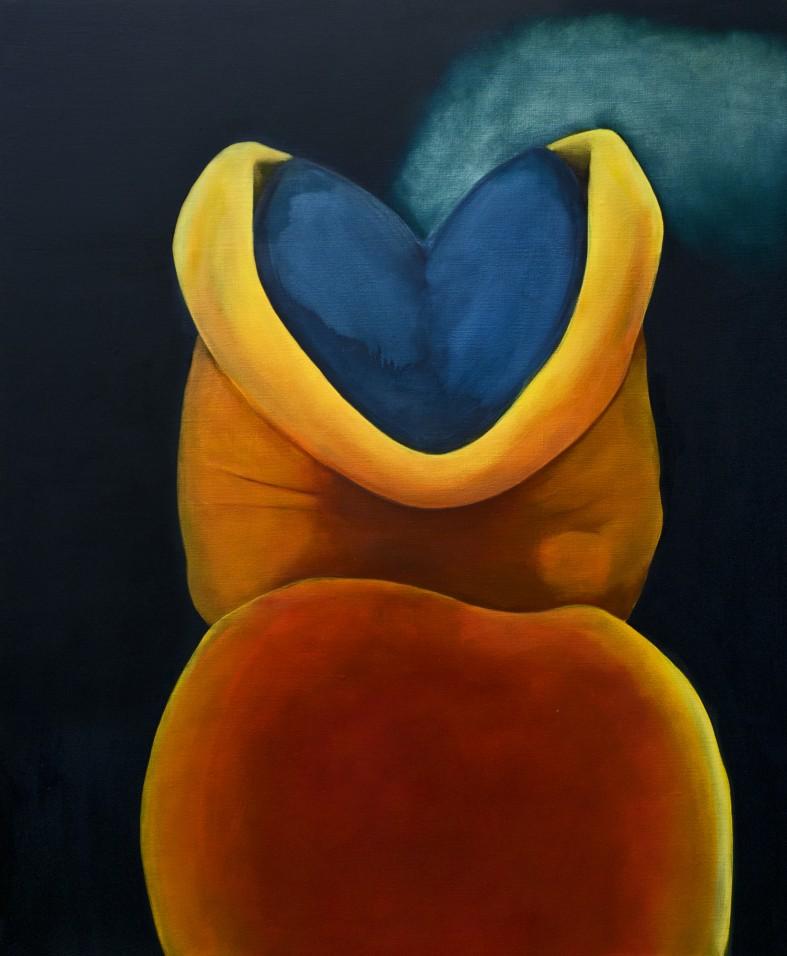 Brainworks, 126 cm x 105 cm, tempera and oil colour on canvas, 2017