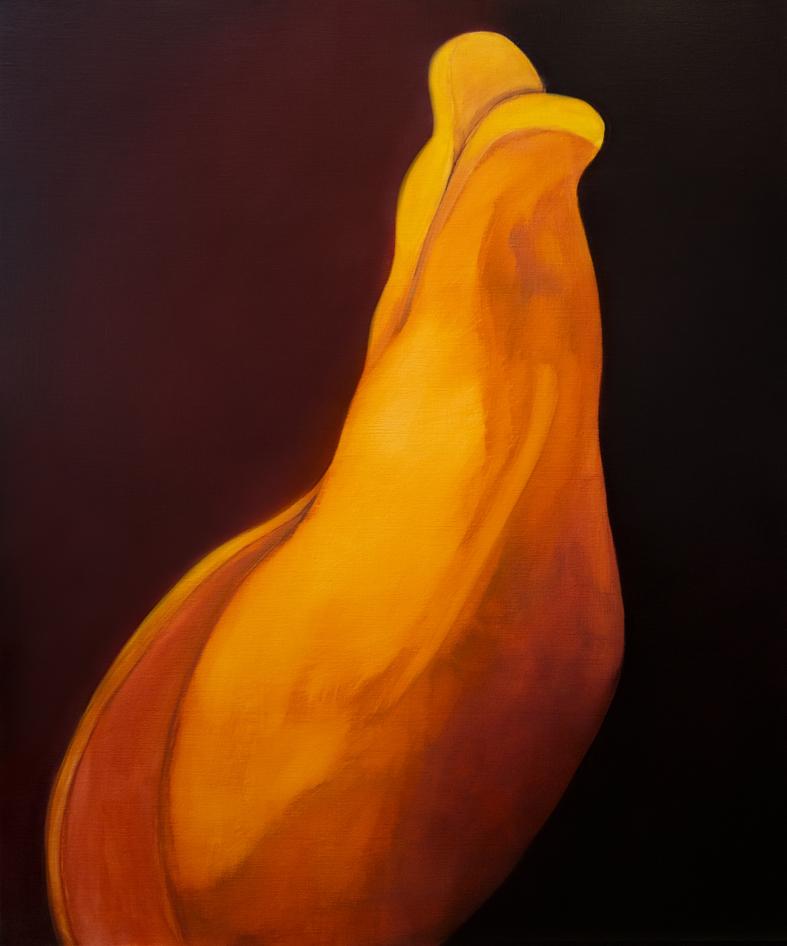 Saccorhytus, 126 cm x 105 cm, tempera and oil colour on canvas, 2017