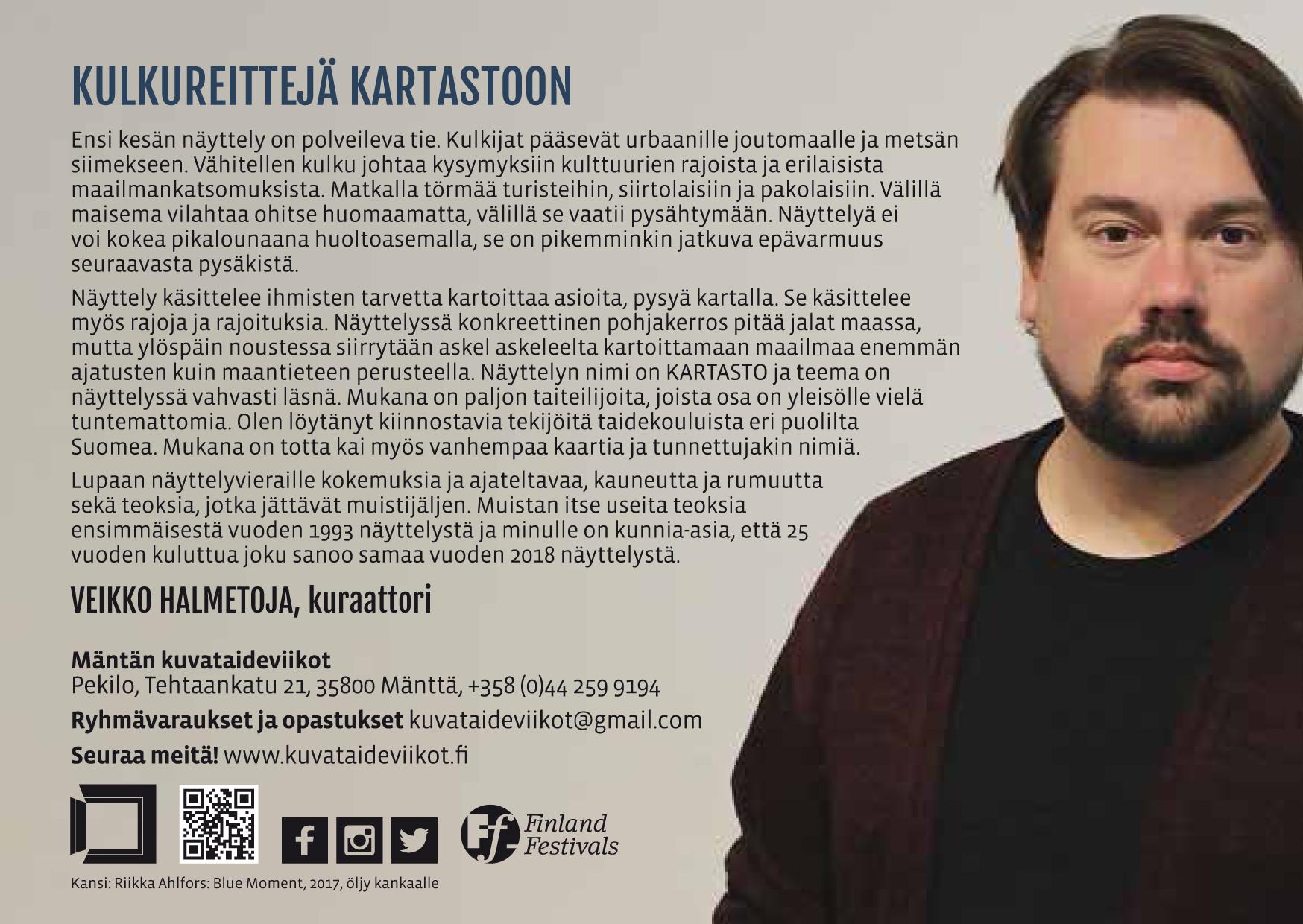 Flyer, Mäntän kuvataideviikot 2018