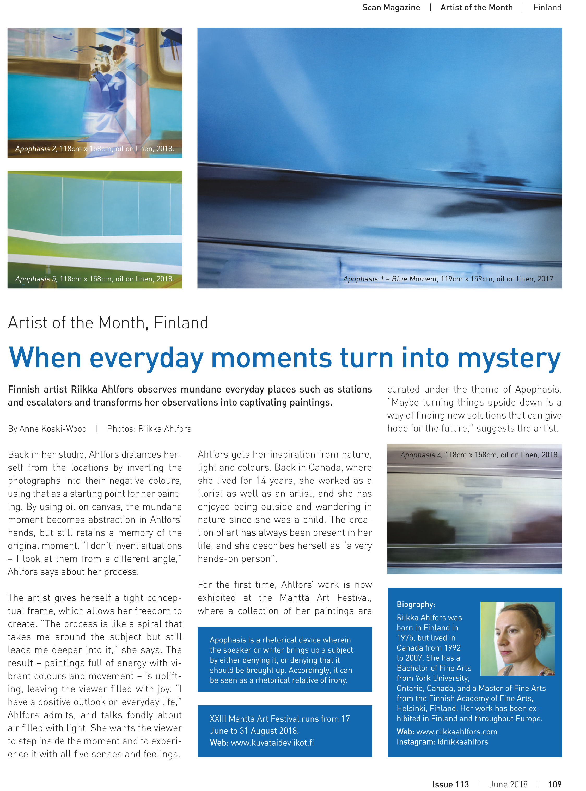 ScanMagazine 113 June 2018 - Artist of the Month, Finland