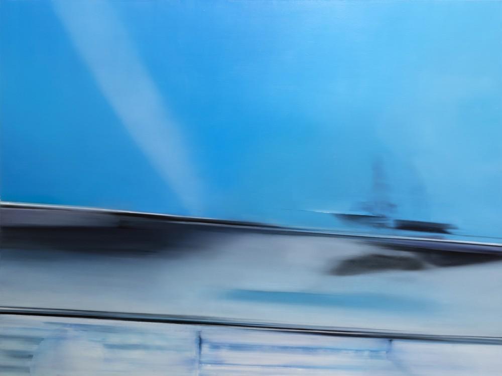 Apophasis 1 - Blue-Moment, 119 cm x 159 cm, oil on linen, 2018